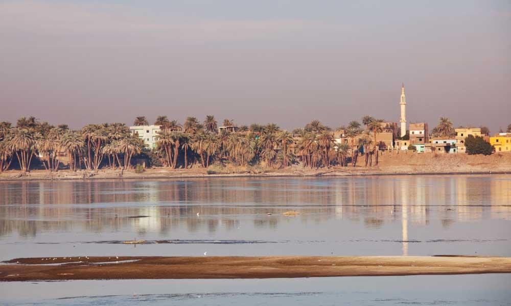 Río Nilo Mar Mediterráneo